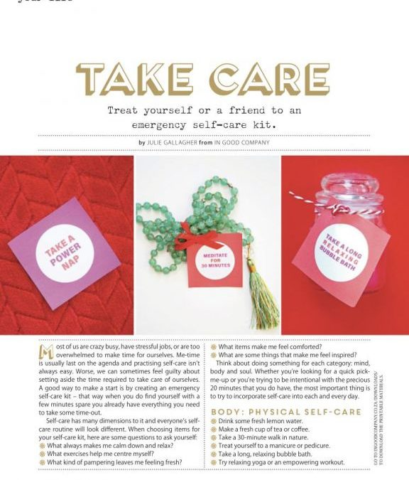 Good Press – Self Care Kit